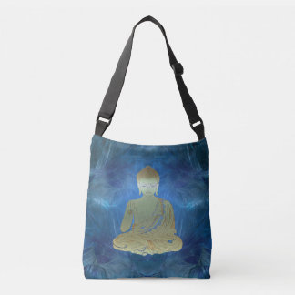 Buddha applied (blue) crossbody bag
