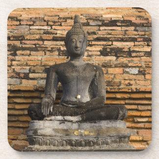 Buddha at Wat Mahathat. Beverage Coaster