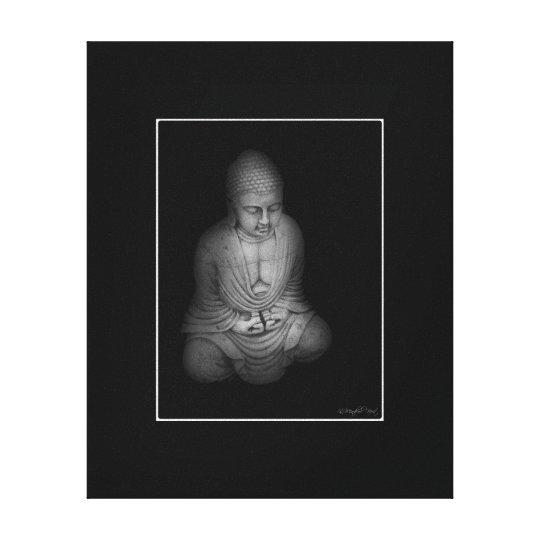 Buddha B&W Canvas Print