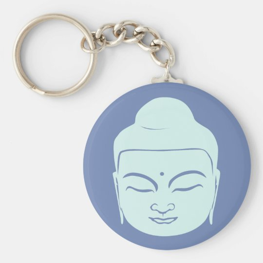 Buddha Badge. Peace Be With You. Key Ring