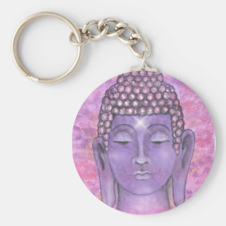 Buddha Basic Round Button Key Ring
