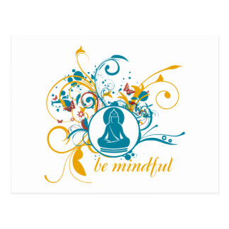 Buddha Be Mindful Postcard