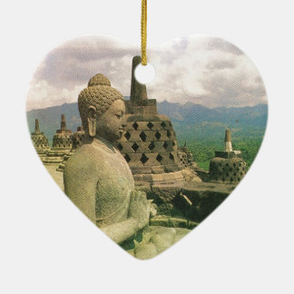 Buddha bell statue, Borobodur temple, Java Christmas Ornament