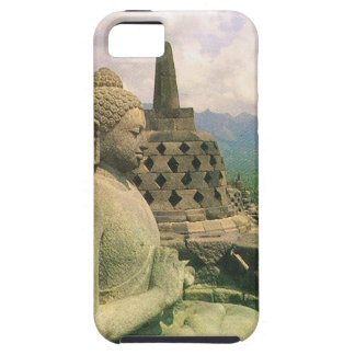 Buddha bell statue, Borobodur temple, Java iPhone 5 Covers