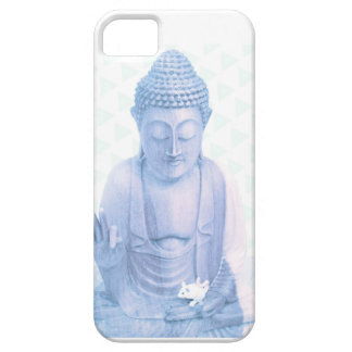buddha blue and tiny white mouse case for the iPhone 5