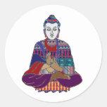 BUDDHA Buddhism Teacher Master NVN659 spiritual Round Stickers
