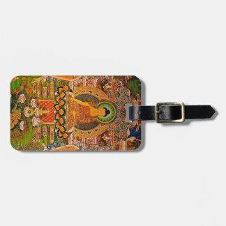 Buddha Buddhist Buddhism Blessing Boho Bohemian Luggage Tag