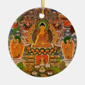 Buddha Buddhist Buddhism Blessing Boho Bohemian Round Ceramic Decoration