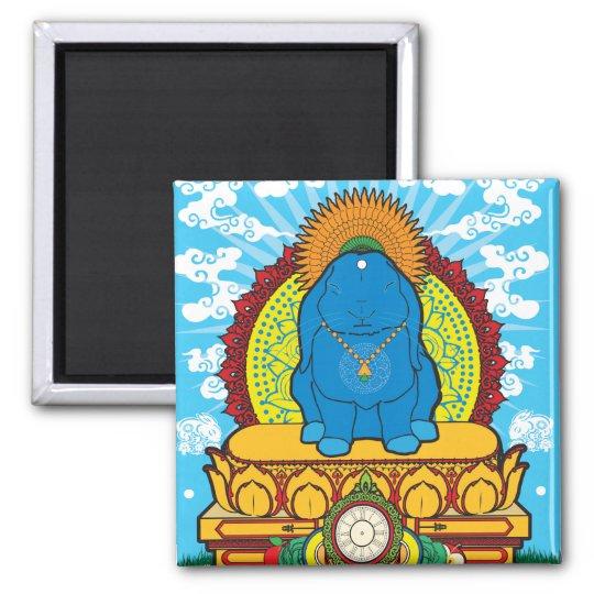 BUDDHA BUN SQUARE MAGNET