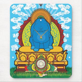 BUDDHA BUNNY MOUSE PAD