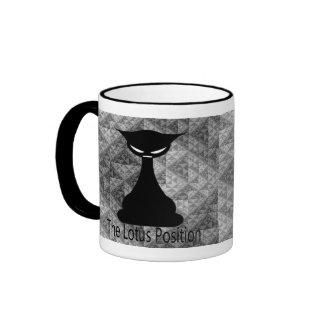 Buddha Cat Ringer Mug