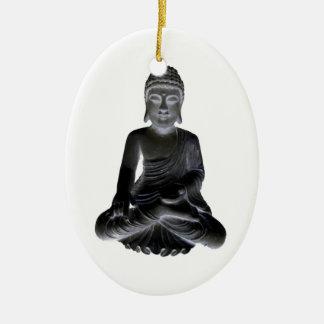 Buddha Ceramic Oval Decoration