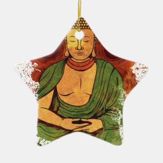 Buddha Ceramic Star Decoration