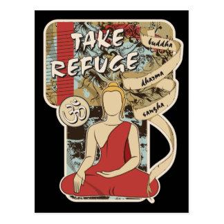 Buddha, Dharma and Sangha Post Card