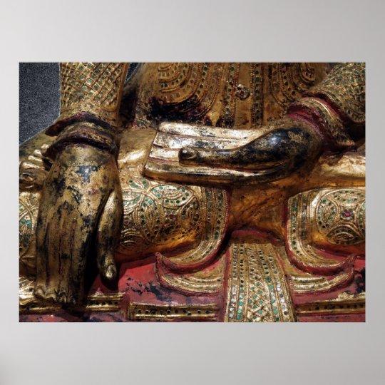 Buddha Earth Touching Mudra Poster