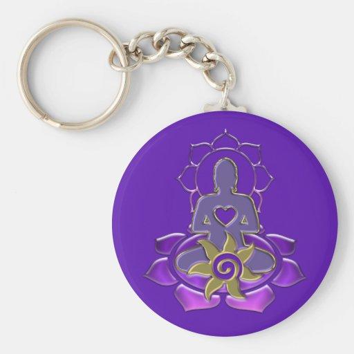 BUDDHA energy   violet Keychain