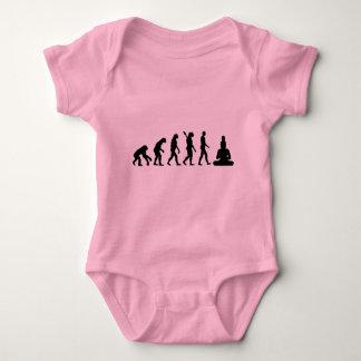 Buddha Evolution Baby Bodysuit