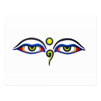 Buddha Eyes Postcard