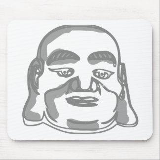 buddha face mouse pad