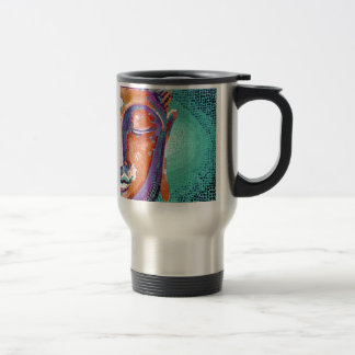 Buddha Face Tan Color Travel Mug