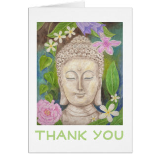 Buddha Flower thank you card