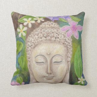 Buddha Flower throw pillow