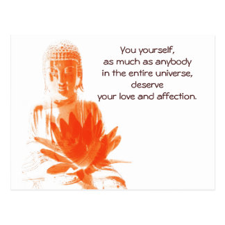 Buddha Gautama quote postcard