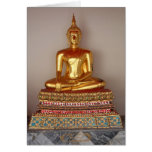 Buddha Gold Statue Card