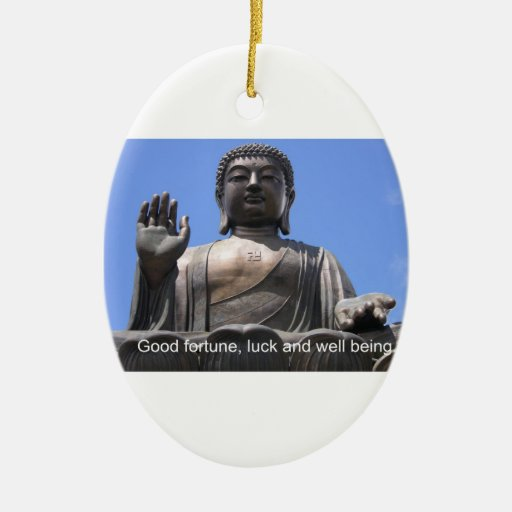 Buddha - Good fortune, luck and wellbeing Christmas Ornament