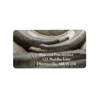 Buddha Hands Meditation Posture Address Label