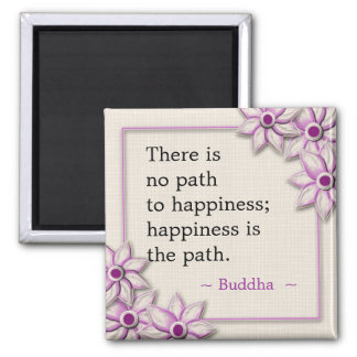 Buddha Happiness Quote Magnet