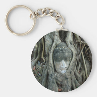 Buddha Head Key Ring