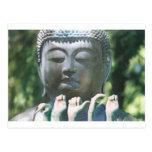 Buddha head & Peace ASL Postcard