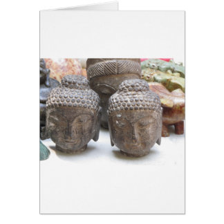 Buddha Heads Greeting Card