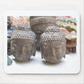 Buddha Heads Mouse Pad