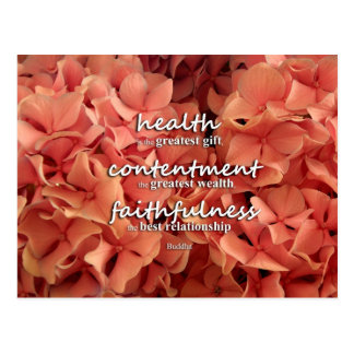 Buddha - health, contentment and faithfulness postcards