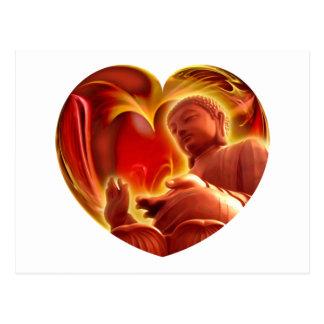 BUDDHA Heart Postcard
