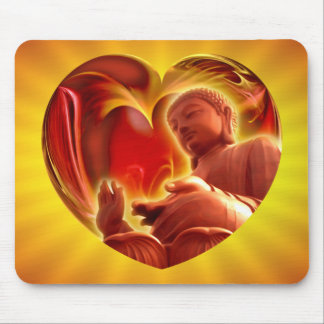 BUDDHA Heart | yellow shine Mouse Pad