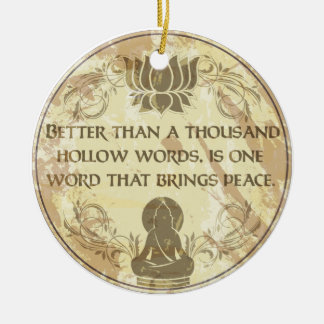 Buddha Hollow Words Christmas Ornament