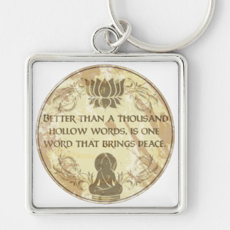 Buddha Hollow Words Key Ring
