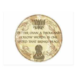 Buddha Hollow Words Postcard