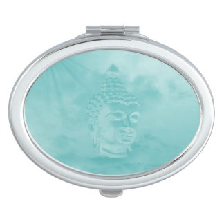 buddha in blue vanity mirrors