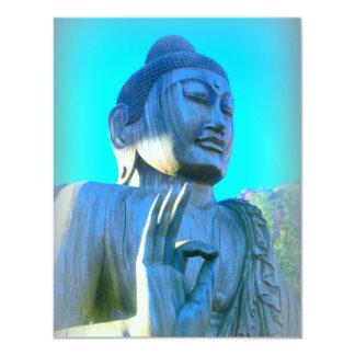 buddha in discussion mudra 11 cm x 14 cm invitation card