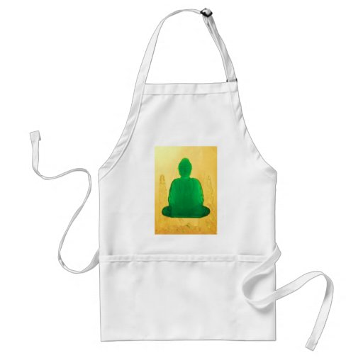 buddha in gold aprons