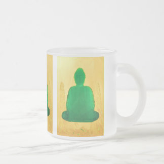 buddha in gold frosted mug