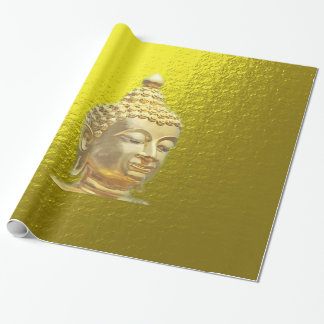 buddha in gold wrapping paper