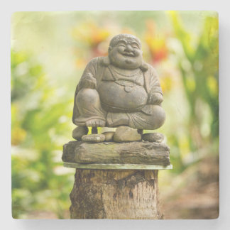 Buddha in Hawaiian Garden Stone Coaster