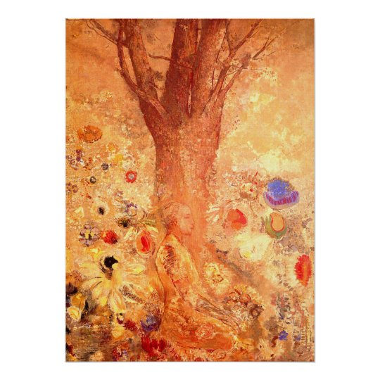 Buddha in His Youth by Redon - Poster