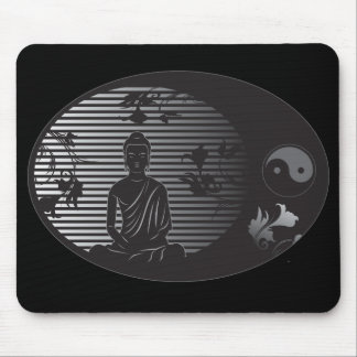 Buddha in Oval Mouse Mat