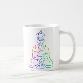 Buddha in rainbow colours basic white mug